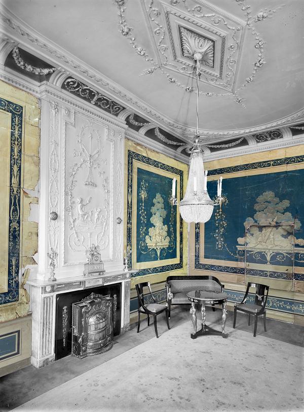 Interieur Diezerstraat 39 eind 18e eeuw